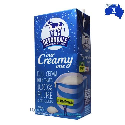 Sữa Tươi Nguyên Kem hiệu Devondale Our Creamy One hộp 2L