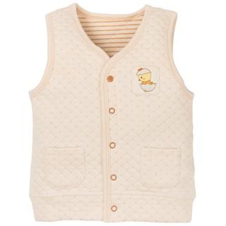 Áo khoác gile chần bông màu be cho bé trai và bé gái sợi bông hữu cơ - Organic and Natural Life by Mimi