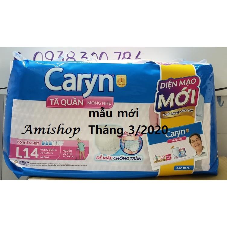 [Mã COS2509 giảm 10% đơn 250K] Tã quần Caryn M16/L14 MẪU MỚI THÁNG 3/2020