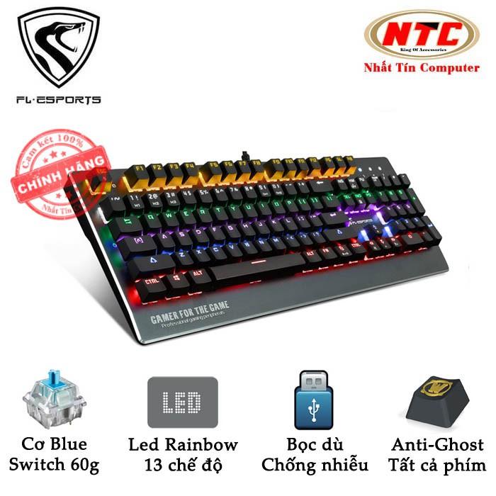 Bàn phím cơ Blue Switch cao cấp FL Esports TT104 dành cho game thủ chuyên nghiệp - led Rainbow 13 ch - 2539715 , 526931418 , 322_526931418 , 1201000 , Ban-phim-co-Blue-Switch-cao-cap-FL-Esports-TT104-danh-cho-game-thu-chuyen-nghiep-led-Rainbow-13-ch-322_526931418 , shopee.vn , Bàn phím cơ Blue Switch cao cấp FL Esports TT104 dành cho game thủ chuyên n