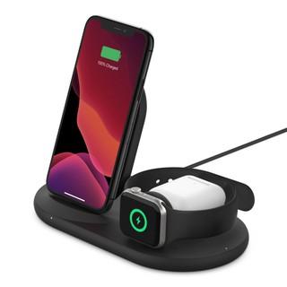 Đế sạc nhanh không dây IPhone, Apple Watch, Airpods đa năng 3 trong 1 - Chính hãng Belkin