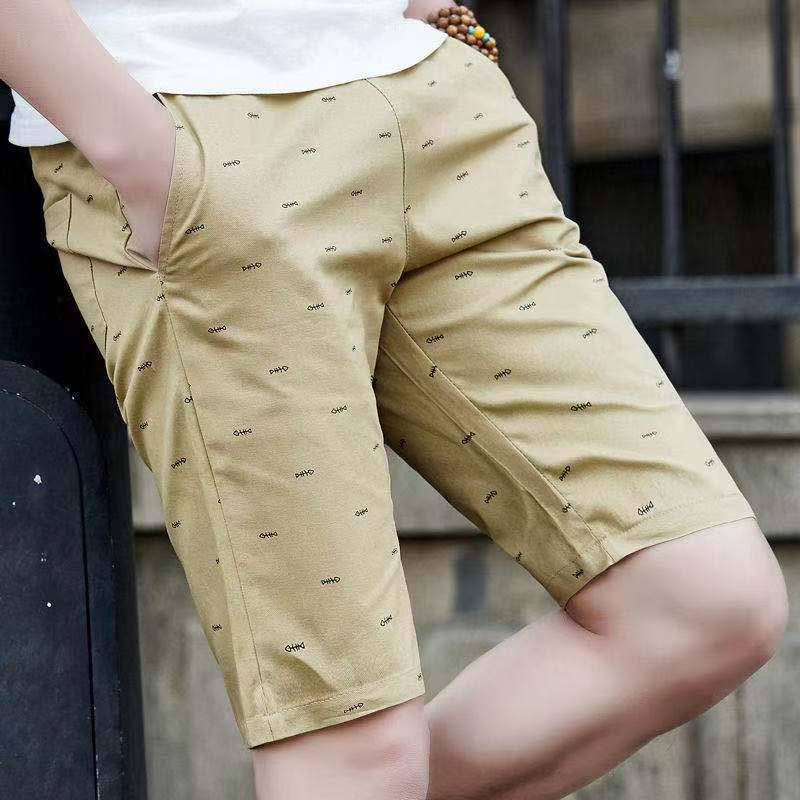 Quần đùi dây rút chất liệu 100% cotton thời trang thường ngày dành cho nam