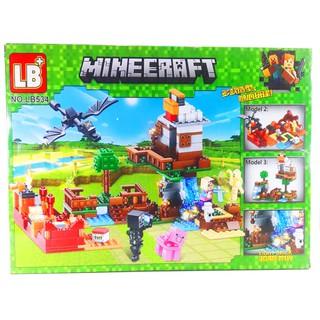 Bộ Lego Xếp Hình Mineecraft My World Xây Dựng Lâu Đài LB-534. Có 456 Chi Tiết. Lego Ninjago Lắp Ráp Đồ Chơi Cho Bé.