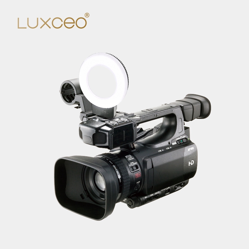 luxceo LED Dimmable Photography Light Photography Studio Camera Ring Light for Mobile Phone SLR