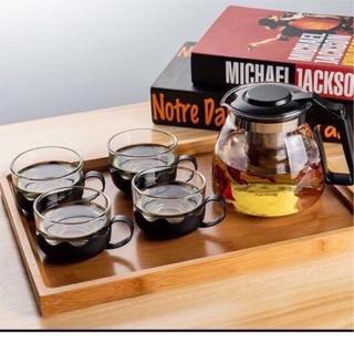 Bộ ấm pha trà thủy tinh sang trọng lịch sự thumbnail