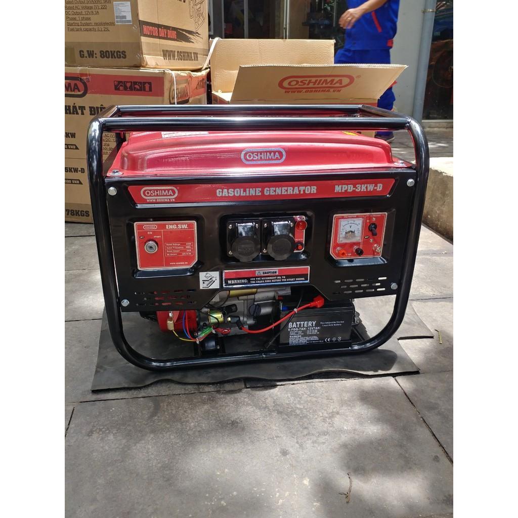Máy phát điện 3kw chạy xăng đề nổ oshima, máy phát gia đình 3kw chạy xăng | Shopee Việt Nam