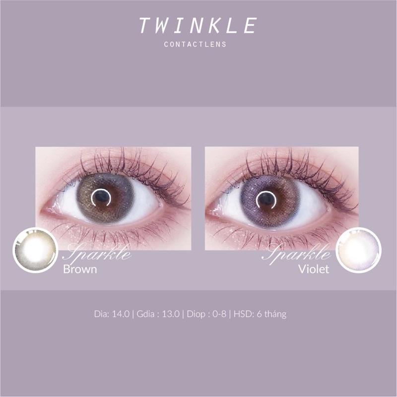 Kính áp tròng Sparkle Brown/Violet
