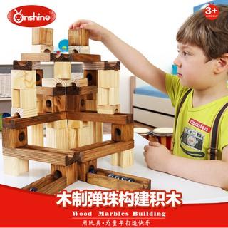 Khối Lego gỗ lắp ráp