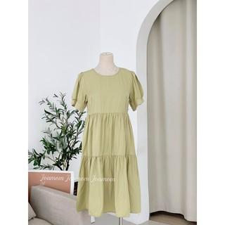 Váy đầm bầu đũi tầng siêu mát phom thoải mái Joamom thumbnail