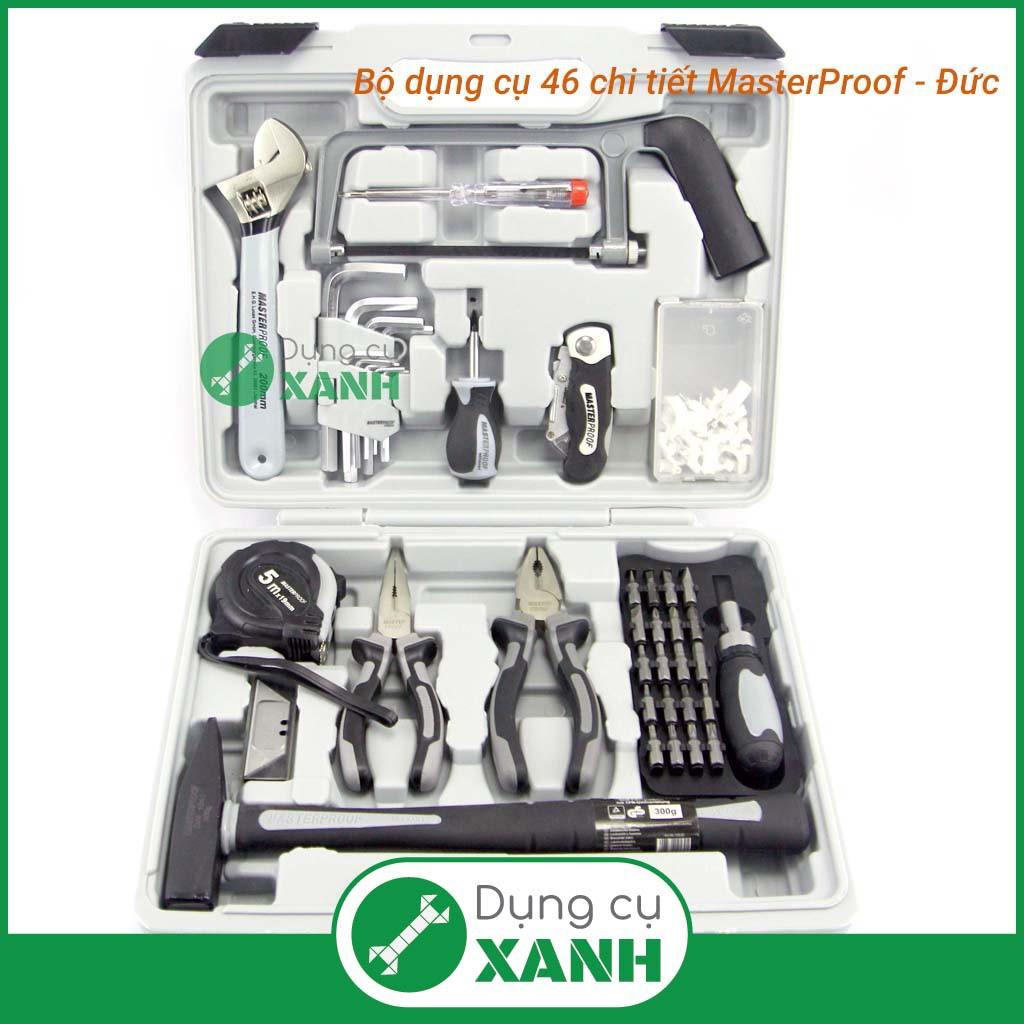 Bộ dụng cụ sửa chữa gia đình 46 chi tiết Masterproof - Đức