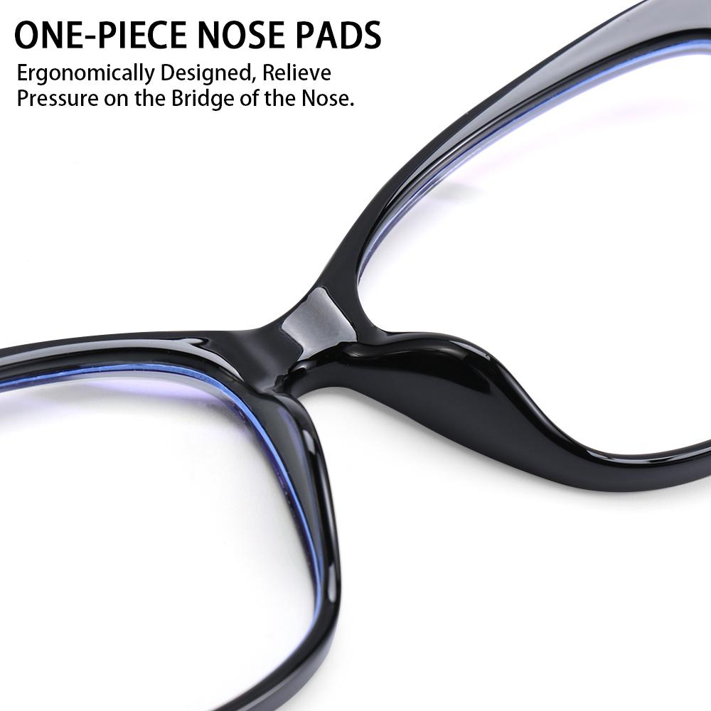 LUCKY🔆 Fashion Blue Light Blocking Glasses Non-Prescription Blue Light Blocking Computer Glasses Women & Men Reading Gaming Glasses Square Frame...