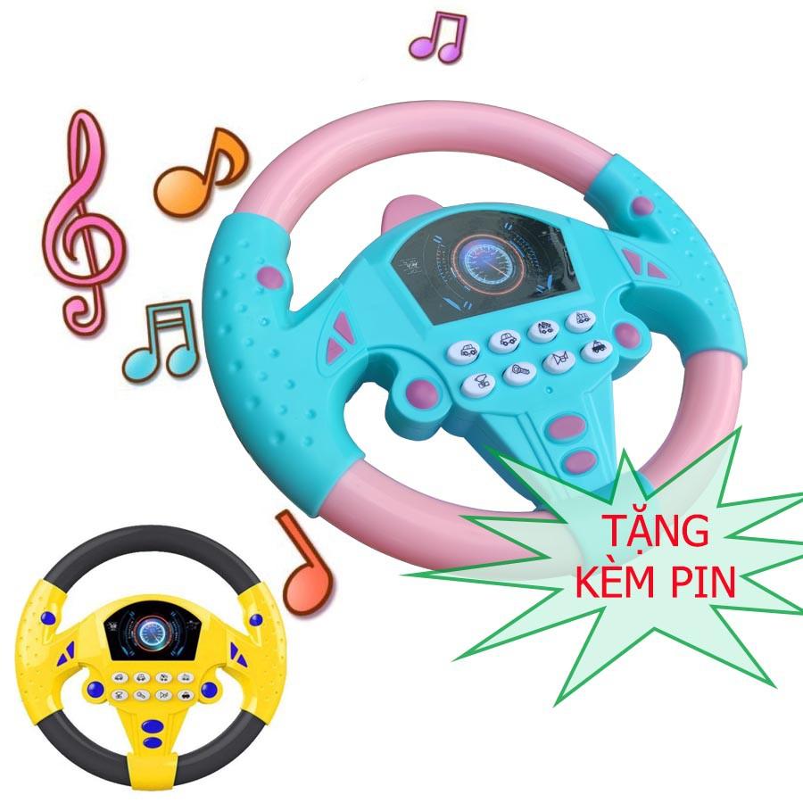 [HCM] Đồ chơi vô lăng xe hơi dùng pin có nhạc KL01584