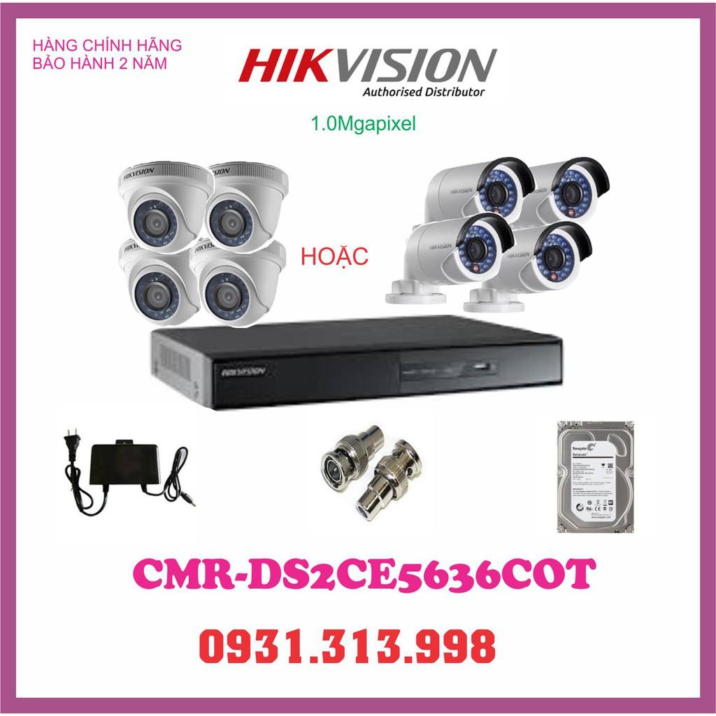 Trọn bộ 4 camera HIKVISION 1.0 MEGAPIXEL - 15362686 , 1470108919 , 322_1470108919 , 3050000 , Tron-bo-4-camera-HIKVISION-1.0-MEGAPIXEL-322_1470108919 , shopee.vn , Trọn bộ 4 camera HIKVISION 1.0 MEGAPIXEL