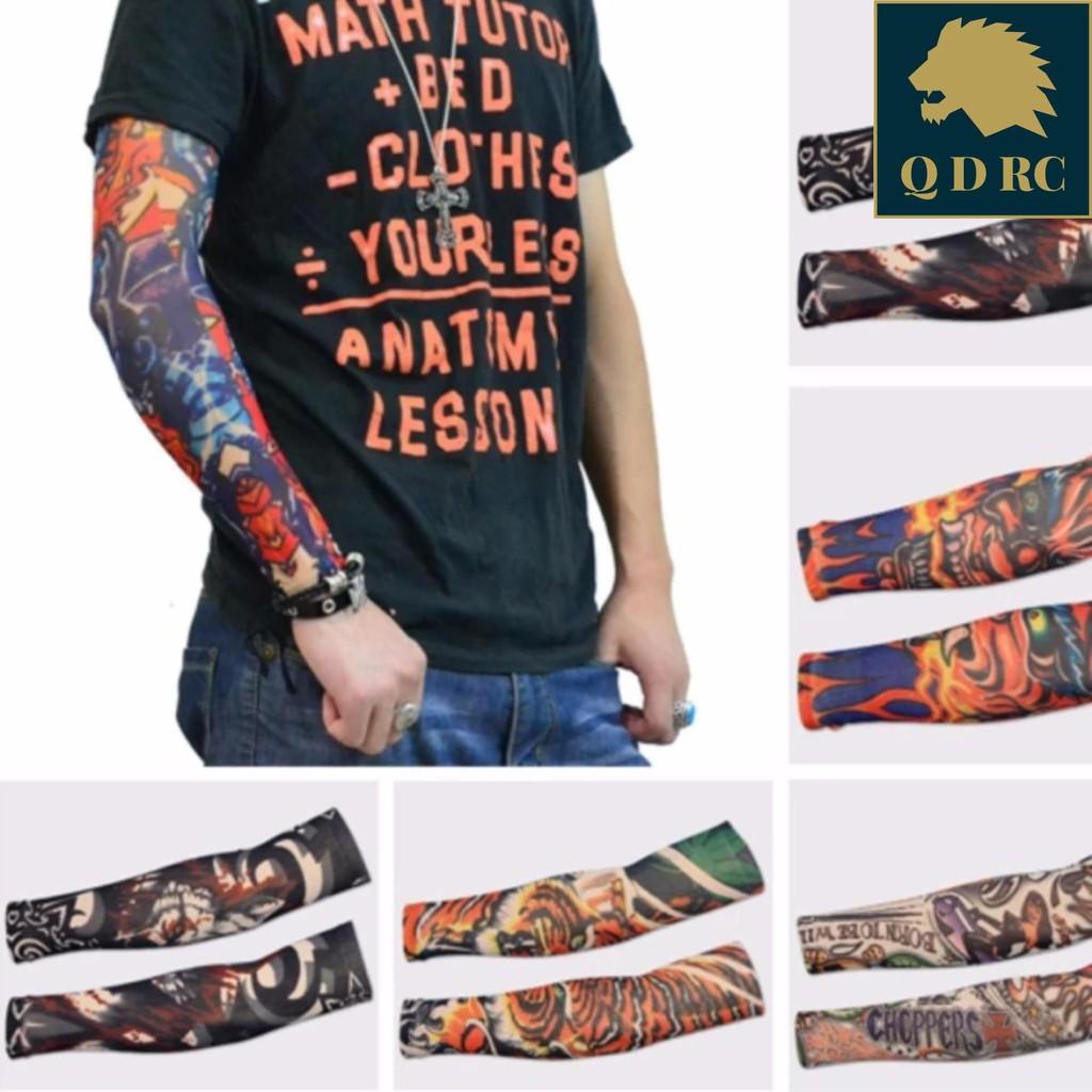 Găng tay hình giả xăm tatto chống nắng tia uv nhẹ đi phượt dạo cao cấp