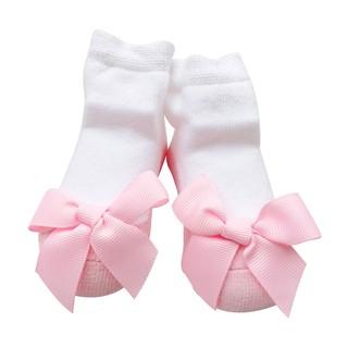 Vớ đính nơ Sanlutoz thời trang dễ thương cho bé gái sơ sinh