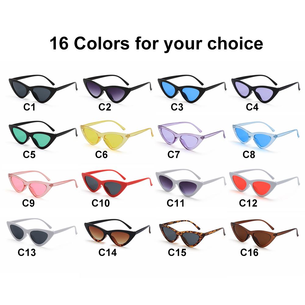 Kính mát gọng mắt mèo chống tia UV400 phong cách retro cá tính cho nữ