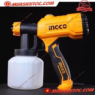 Máy phun sơn dụng cụ súng phun sơn 800ml dùng điện 450W INGCO SPG3508 sơn nước sơn dầu sơn lót với độ nhớt phù hợp