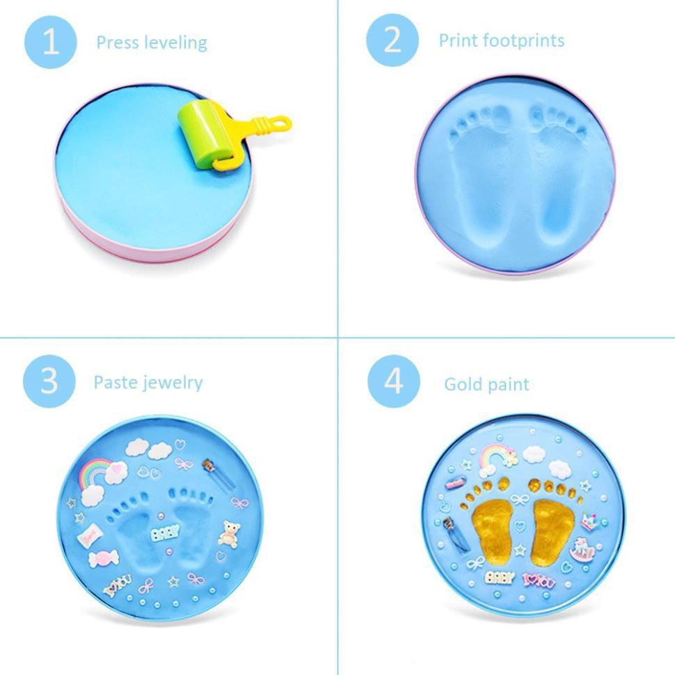 [ BH - 1 ĐỔI 1 ] Bộ khung hộp in dấu vân chân tay chân cho bé sơ sinh...