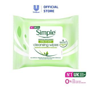 Khăn giấy tẩy trang Simple Cleansing Facial Wipes 25 tờ