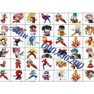 Set 10 tấm sticker khổ a4( tặng kèm 4)