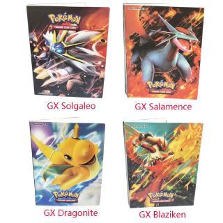 Ultra Pro Pokemon Cards GX Blaziken Solgaleo Salamence Album 4 Pocket Portfolio