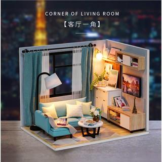 Bộ lắp ghép nhà búp bê – Một góc phòng khách Corner of Living Room