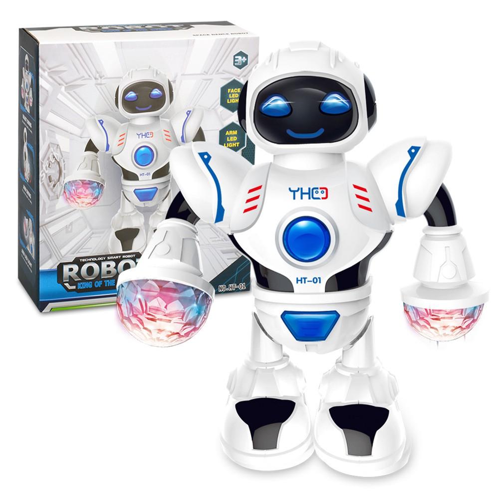 Đồ Chơi Trẻ Em Robot Biết Phát Sáng Và Nhảy Múa Theo Nhạc