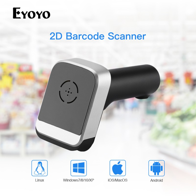 Máy quét mã vạch cầm tay Eyoyo kết nối Bluetooth 2 4GHz | SaleZone Store