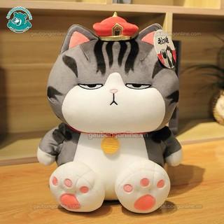 Mèo bông Gấu bông mèo hoàng thượng béo chất nhung mịn , hàng cao cấp thumbnail