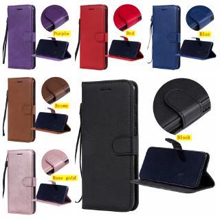 Bao Da Màu Trơn Có Ngăn Đựng Thẻ Cho Sony Xperia Xa1 / Xa1 Ultra / Sony Xa2 / Sony Xz1 / Xz1 Compact / Sony Xz2 / Xz2 Compact / Sony Xperia L2
