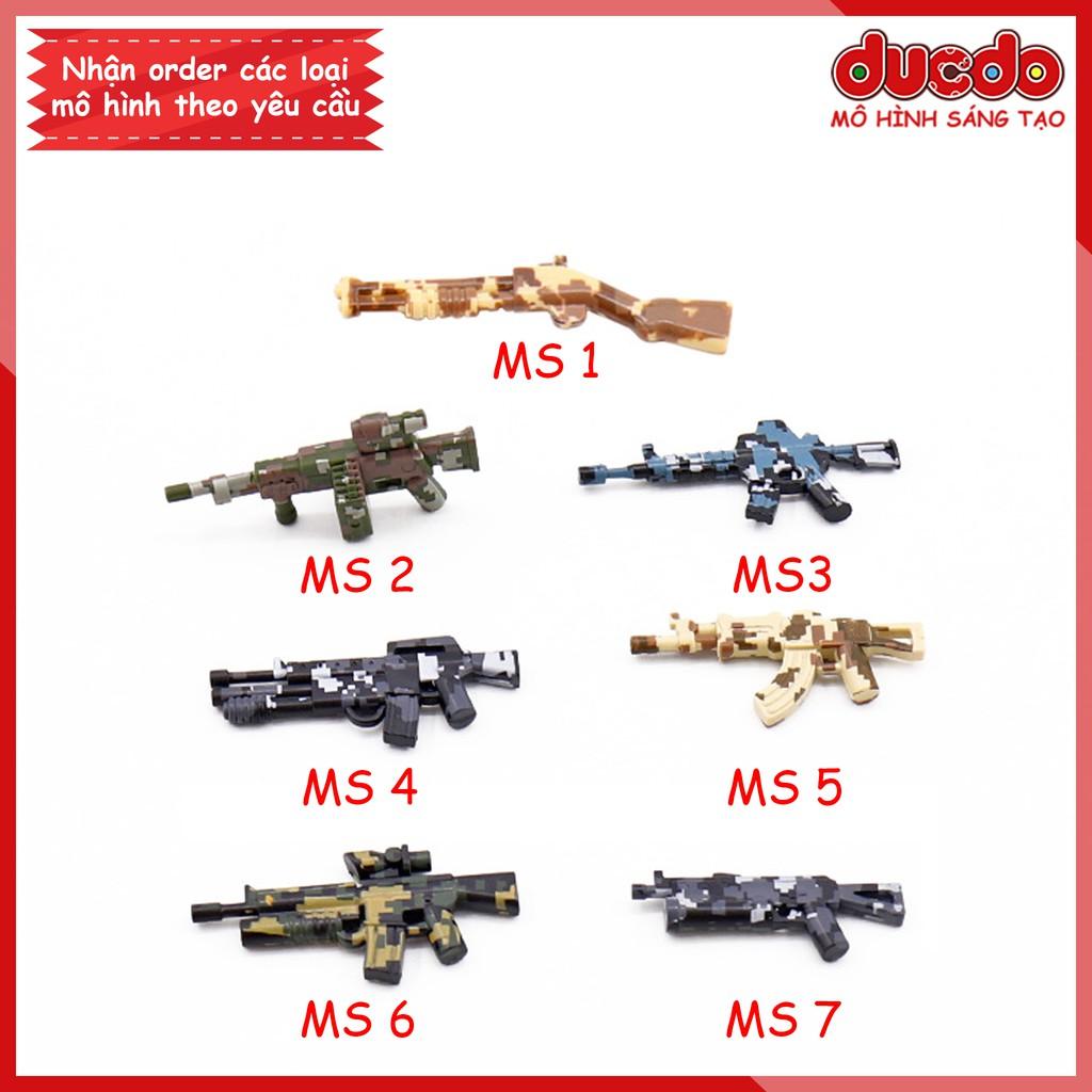 MOC Phụ kiện trang bị vũ khí ngụy trang siêu chất - Đồ chơi Lắp ghép Mini Minifigures Army lính Mô hình
