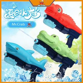 Súng nước cá mập, cá sấu, khủng long (Súng bắn nước đồ chơi an toàn cho bé) thumbnail