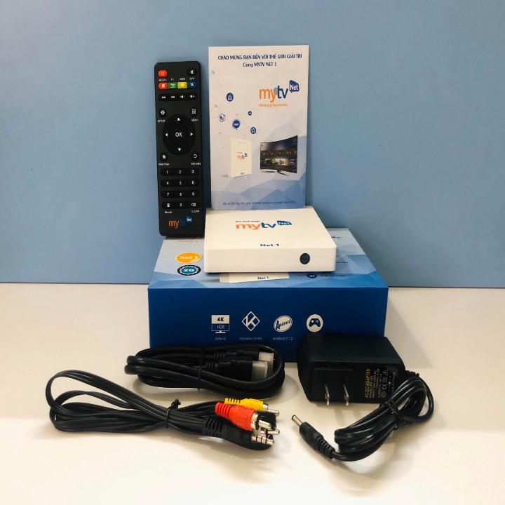 Android TV Box MyTV Net1 RAM 2GB Kèm điều khiển tìm kiếm giọng nói - Hàng chính hãng