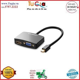 [Mã ELFLASH5 giảm 20K đơn 50K] Cáp Chuyển Mini DP Male To VGA Và HDMI Female Ugreen 10439 - Trắng - Hàng Chính Hãng