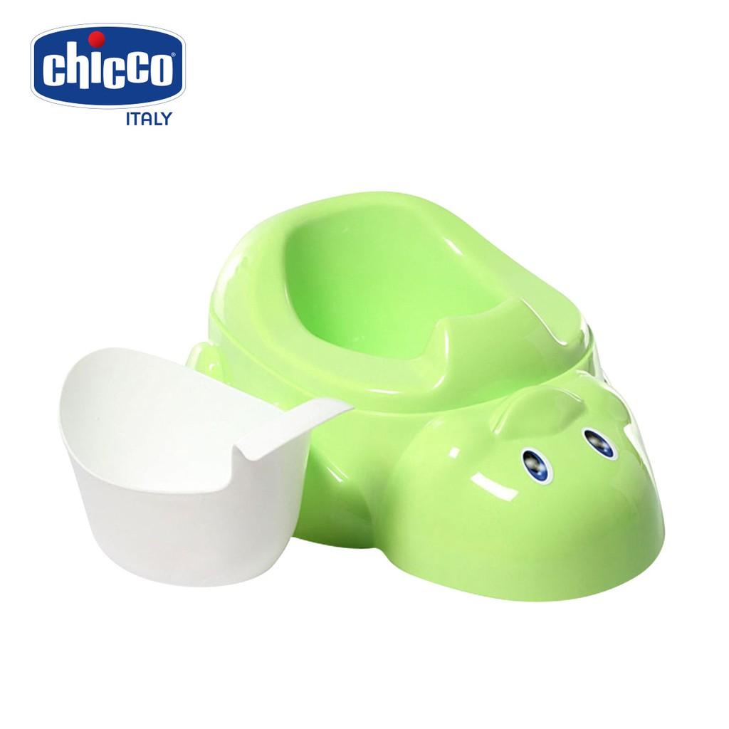 Bô vệ sinh Vịt con Chicco màu xanh