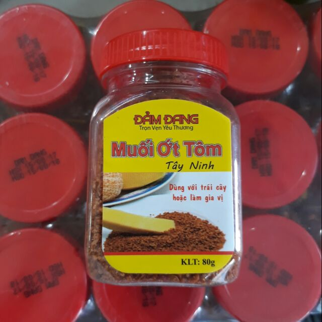 Muối ớt tôm Tây Ninh hũ nhỏ