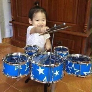 Bộ trống Jazz Drum 5 trống cho bé Lẻ 230k Với bộ trống này bé nhà bạn sẽ thỏa sức trổ tài