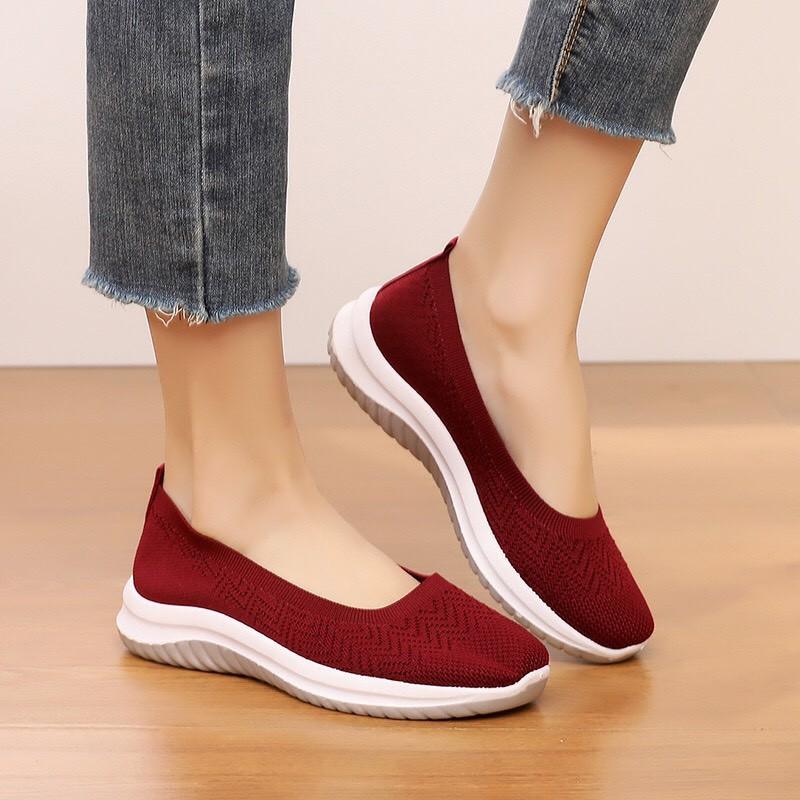 Giày lười nữ đan lưới siêu nhẹ, thời trang – giày slipon thể thao nữ Vincent shop