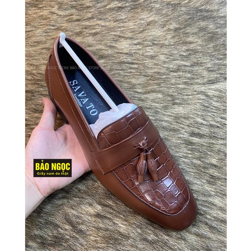Giày tây nam da bò cao cấp ✅ Giày lười nam công sở thời trang 🎁 Da bò tấm loại 1 🎁 Bảo hành nổ da 24 tháng ✅ Mã L6989