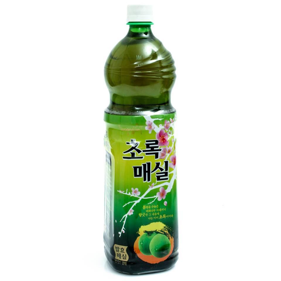 Nước mơ xanh Woongjin Hàn Quốc, Combo 1500ml x 3chai