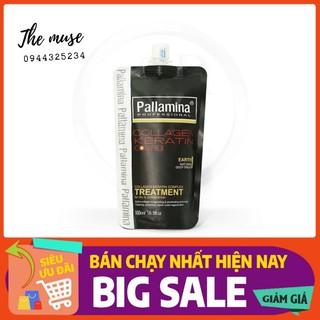 PALLAMINA- Dầu Hấp Ủ Tóc Dưỡng Ẩm Phục Hồi Siêu Mềm Mượt Colagen -Keratin Pallamina 500ml