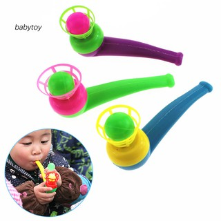 [Baby]Funny Colorful Kids Sport Blowing Toy Fillers Pipe Ball Game Birthday Gifts