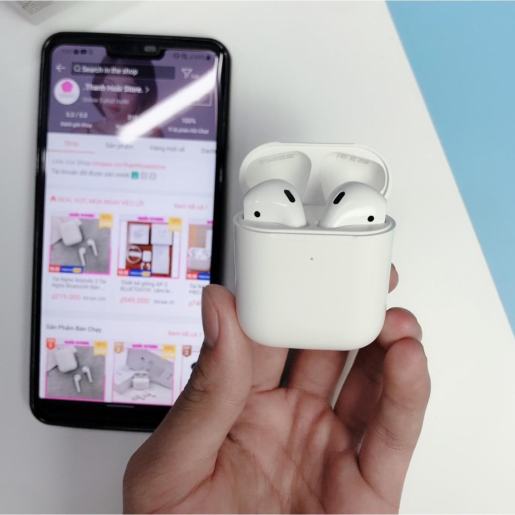 Tai Nghe Bluetooth Dùng Cho IOS & Androi -  Cảm ứng đa điểm đổi tên định vị sạc không dây âm bass siêu đỉnh- BH 12 tháng