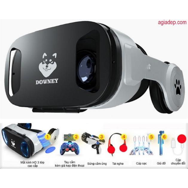 Kính thực tế ảo Downey (Sói bạc) và Bộ phụ kiện AR VR Chơi game Xem Phim thỏa thích (Agiadep)