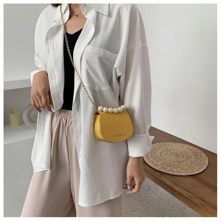 Túi mini đeo chéo nữ da mềm dây xích thời trang giá rẻ sành điệu đi chơi GL99