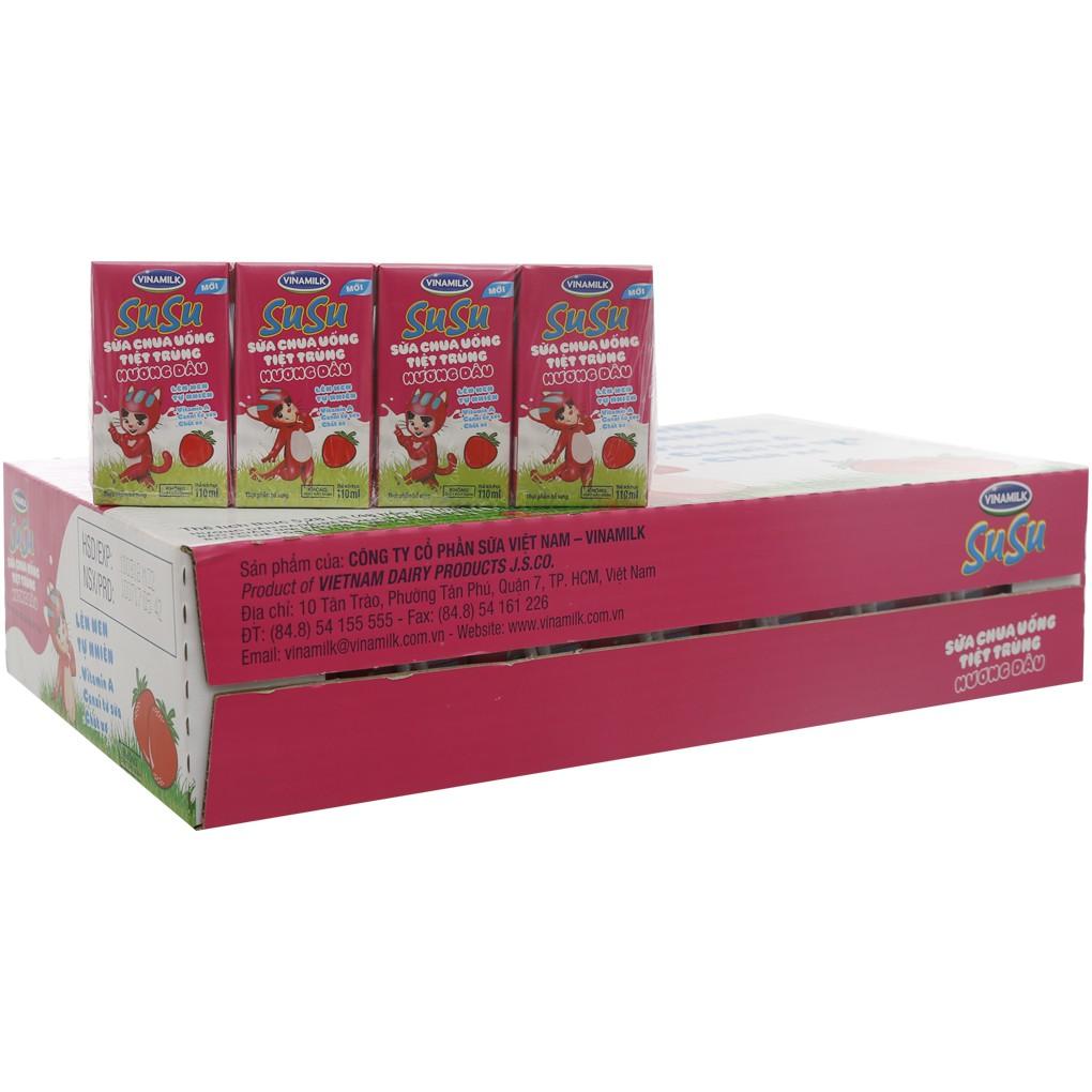 Sữa chua uống Susu Vinamilk 110ml thùng 48 hộp - 3020602 , 800702427 , 322_800702427 , 170000 , Sua-chua-uong-Susu-Vinamilk-110ml-thung-48-hop-322_800702427 , shopee.vn , Sữa chua uống Susu Vinamilk 110ml thùng 48 hộp