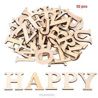 52pcs/set Arts Crafts DIY Decoration Educational Handmade Home Mixed Patchwork Wooden Letters