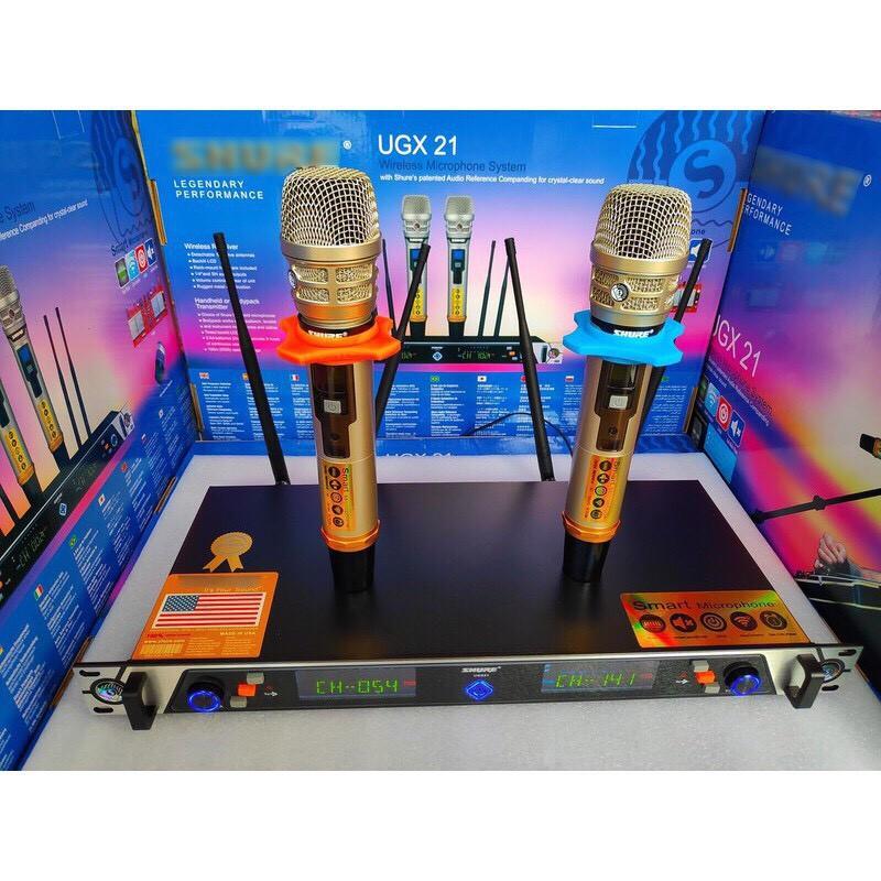 [GIÁ HỦY DIỆT] Micro không dây UGX21- hát karaoke gia đình, micro sân khấu chuyên nghiệp - âm thanh đỉnh cao