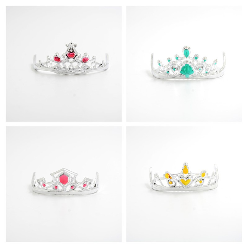 [BEW] 8pcs 4 Colours Fashion Crowns for Headwear Jewelry Accessories for Doll [OL]