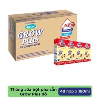 Thùng Sữa Grow Plus đỏ Vinamilk pha sẵn 180ml/48 hộp